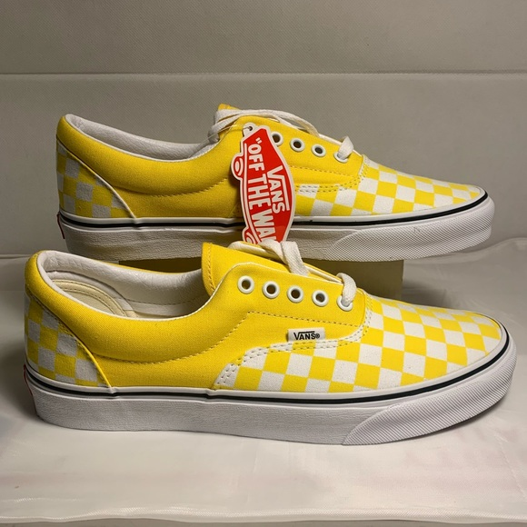 Vans Shoes | Yellow Checkerboard Lace